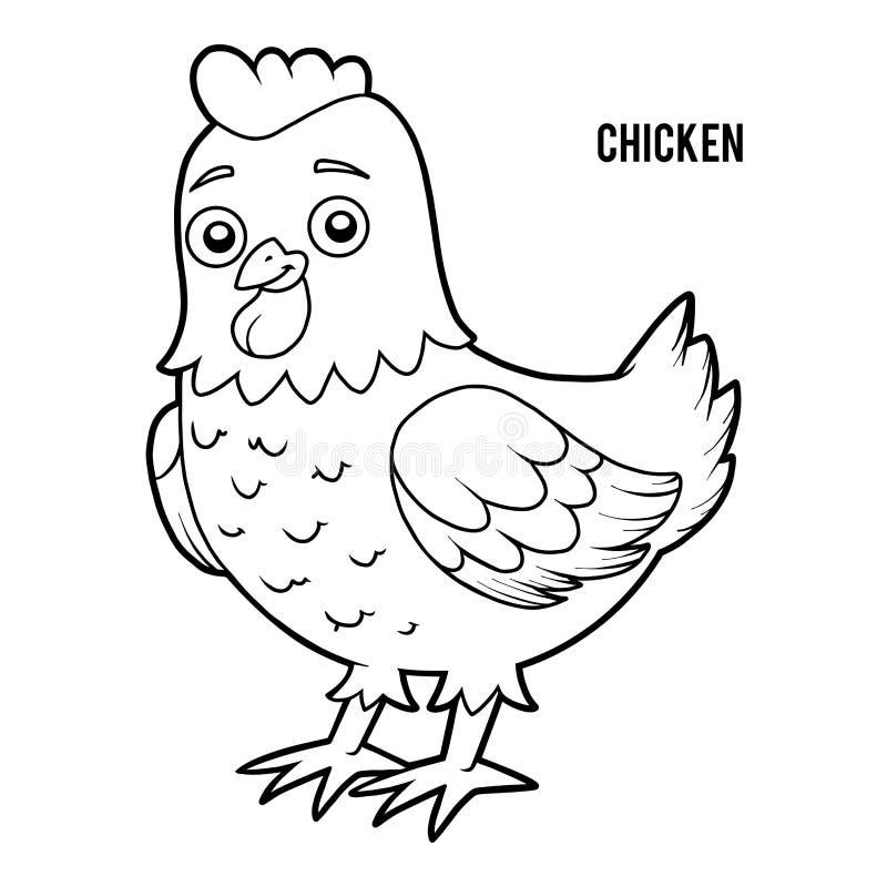 Malbuch, Huhn stock abbildung