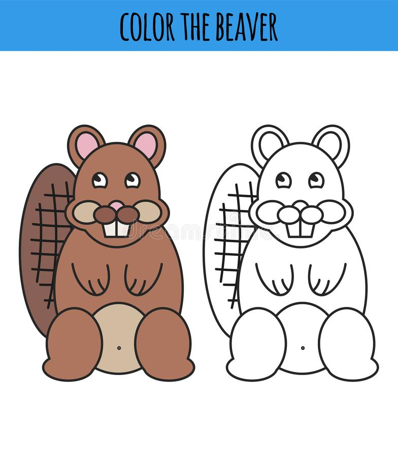 Malbuch mit Haustieren 2 - Vektorillustration vektor abbildung