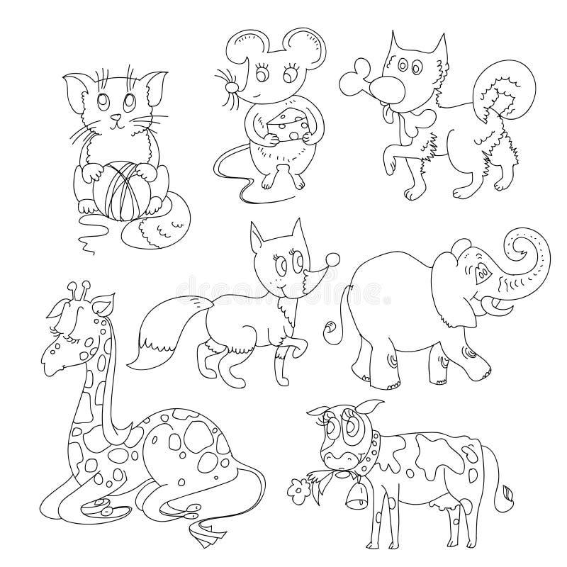 Malbuch mit Tieren stockfotografie