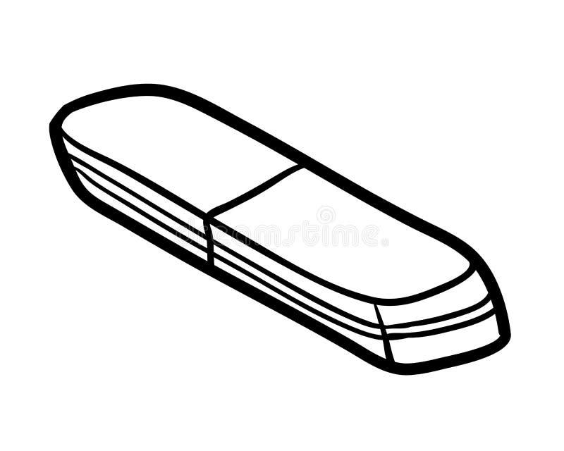 Malbuch, Radiergummi lizenzfreie abbildung