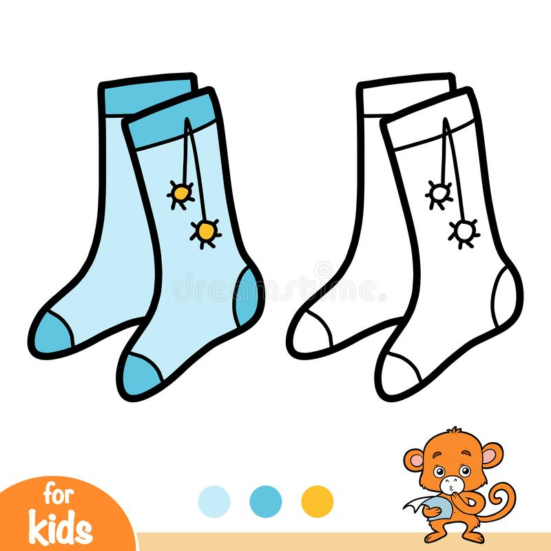 Malbuch, Socken mit pom poms vektor abbildung