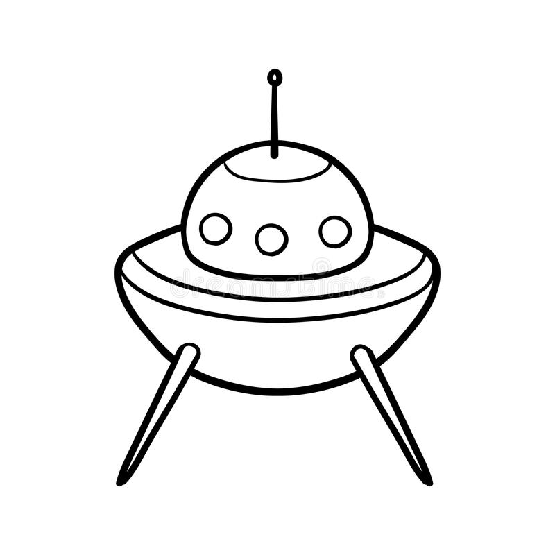 Malbuch, UFO stock abbildung