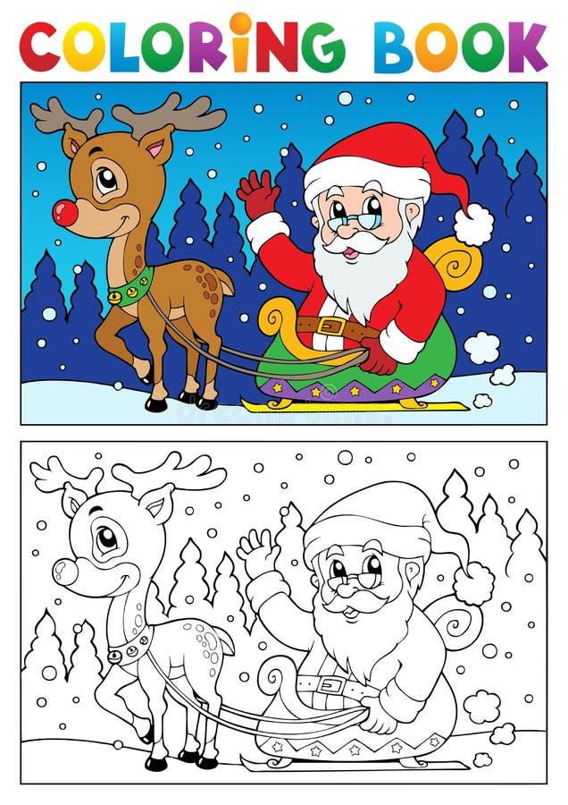 Malbuch-Weihnachtsmann-Thema 7 lizenzfreie abbildung