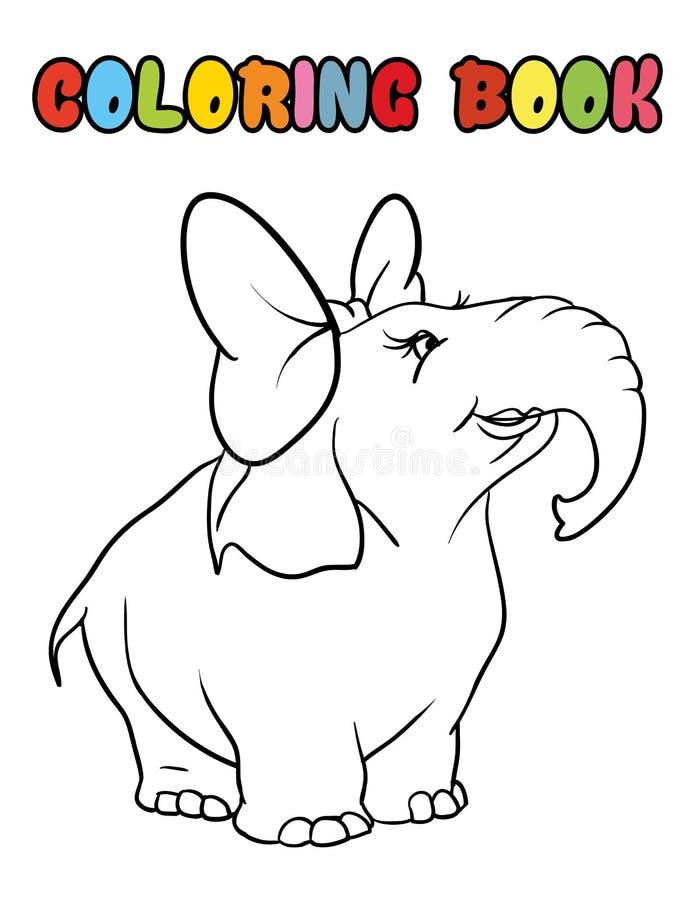 Malbuchelefantkarikatur lizenzfreie stockbilder