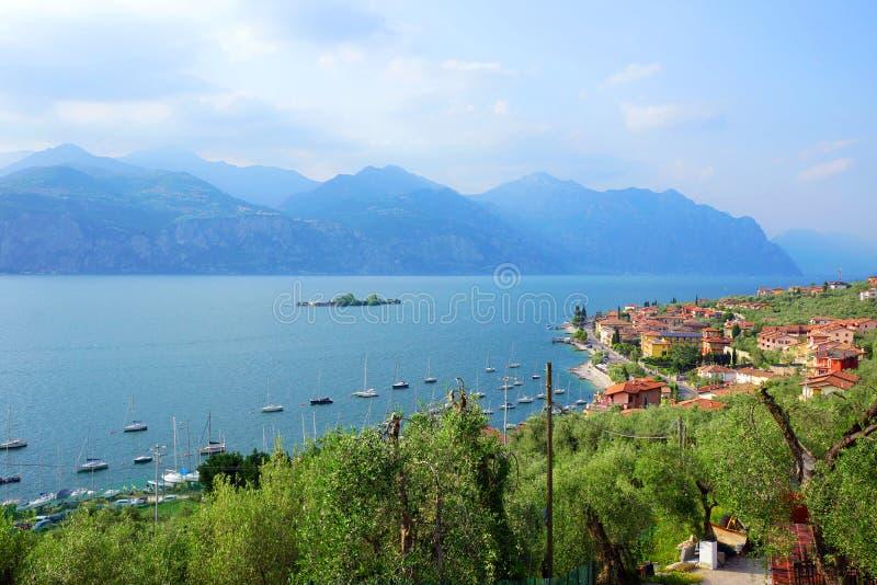 Malcesine, озеро Garda стоковые фото
