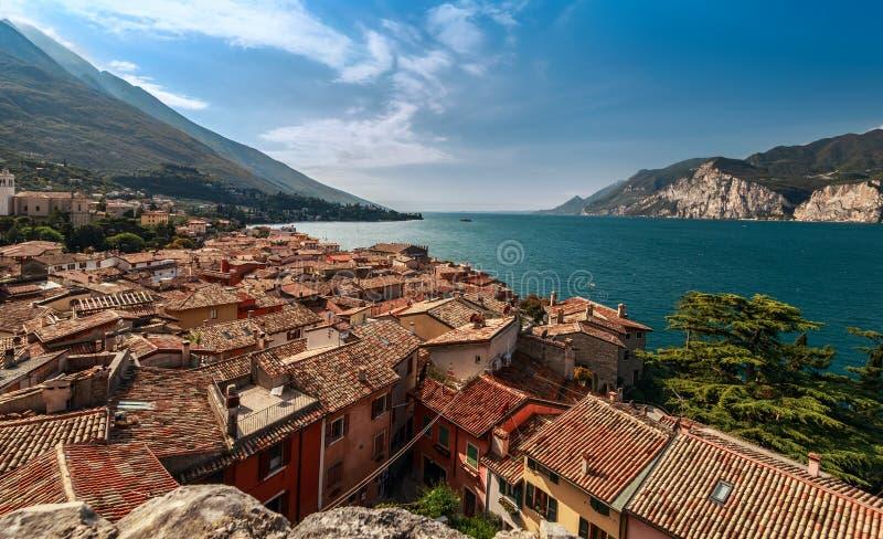 Malcesine e lago Garda imagem de stock royalty free
