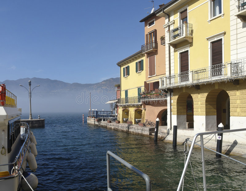 Malcesine Harbour stock photography