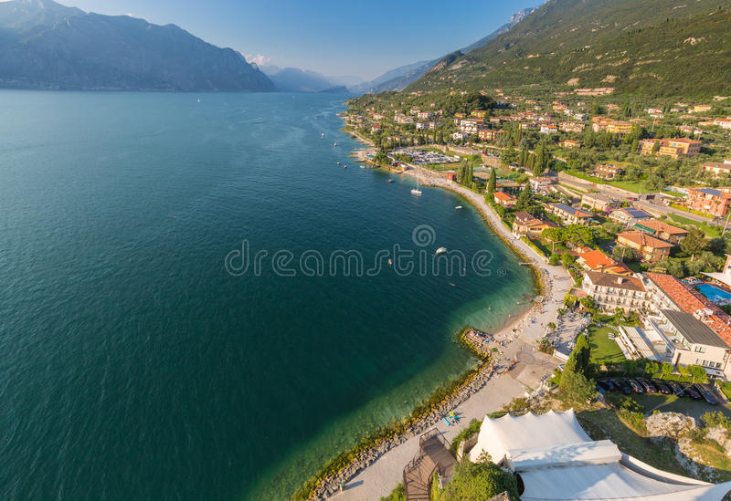 Malcesine - lago Garda - Italia imagen de archivo