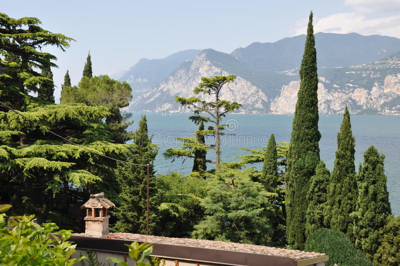 Malcesine no lago Garda fotografia de stock royalty free