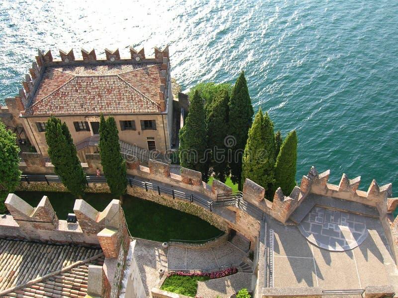 Malcesine Schloss, Italien stockbilder