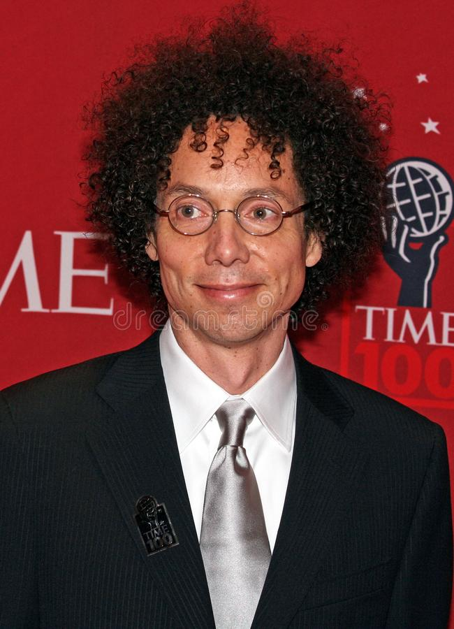 Malcolm Gladwell. British-born Canadian journalist, author and speaker, Malcolm Gladwell, arrives on the red carpet inside the Time Warner Center in Manhattan royalty free stock photography