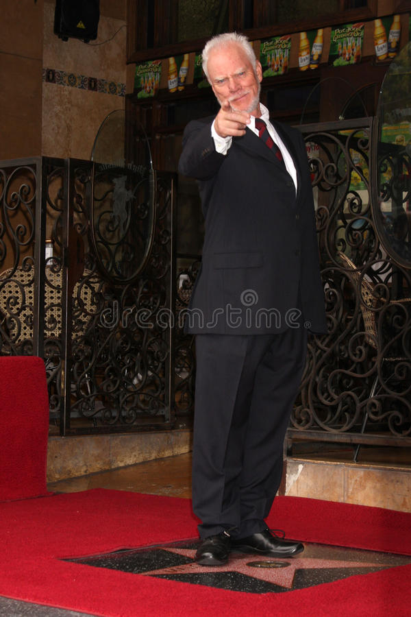Malcolm Mcdowell, Muppets royalty-vrije stock afbeelding