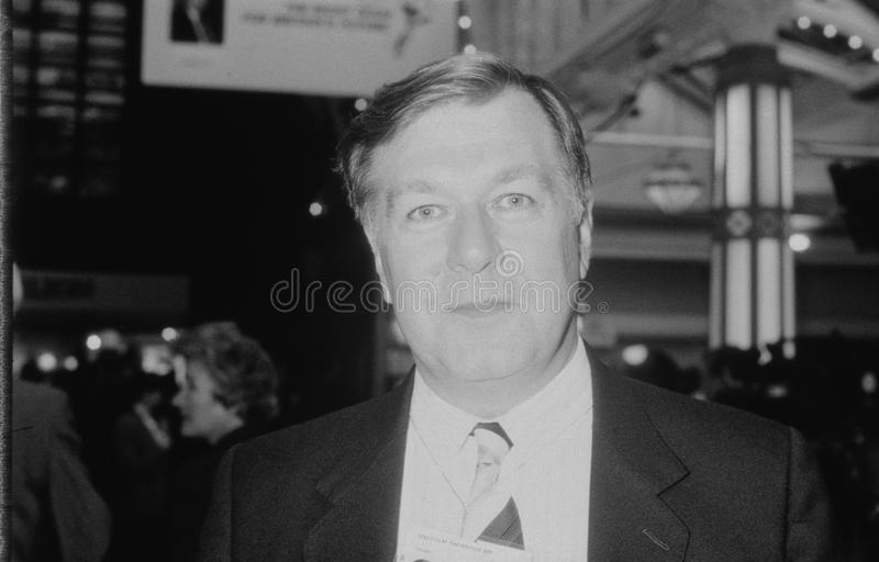 Malcolm Thornton. Conservative party Member of Parliament for Crosby, attends the party conference in Blackpool, England on October 10, 1989 stock photography