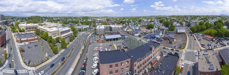 Malden miasta widok z lotu ptaka, Massachusetts, usa obrazy royalty free
