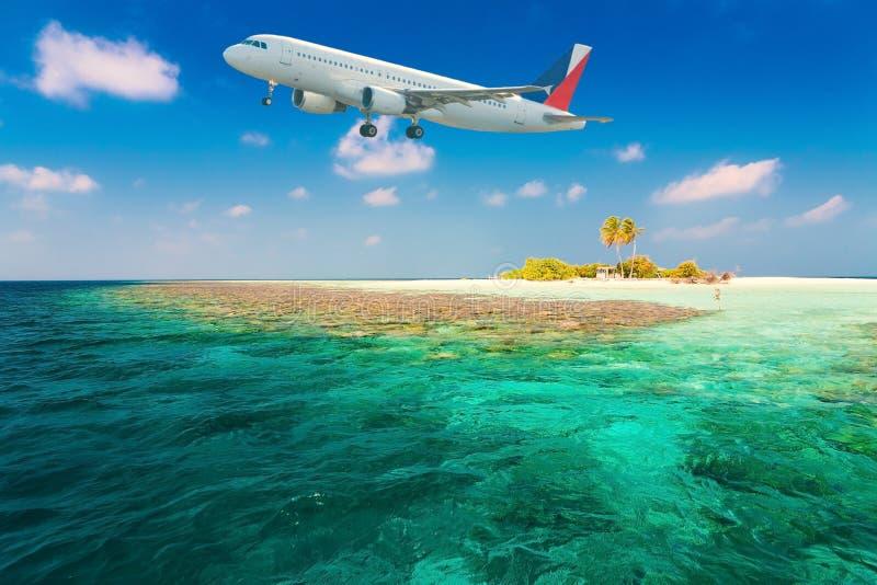 Maldivas, avião fotos de stock royalty free