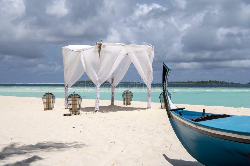 Maldiverna öar i vinter royaltyfri foto