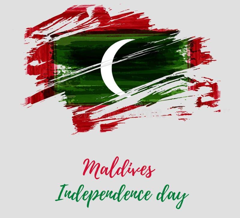 Maldiverna självständighetsdagen vektor illustrationer