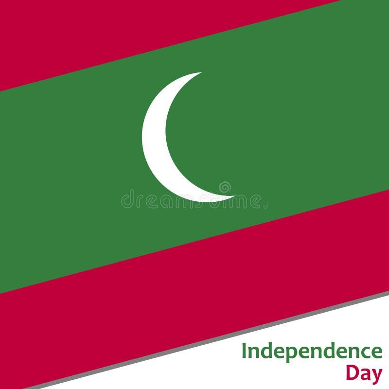 Maldiverna självständighetsdagen royaltyfri illustrationer