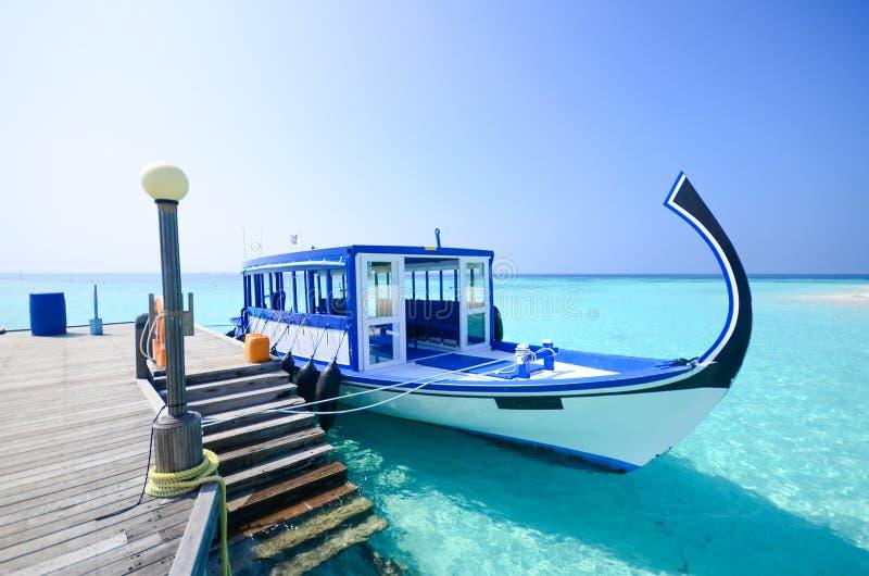 Maldiverna strand arkivbilder