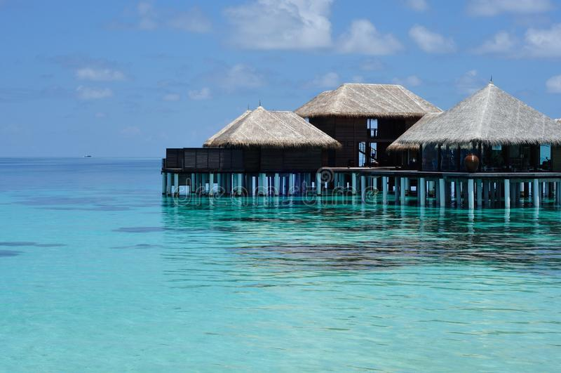 Maldives. Fitness center of Coco Palm Bodu Hithi, Maldives stock photography