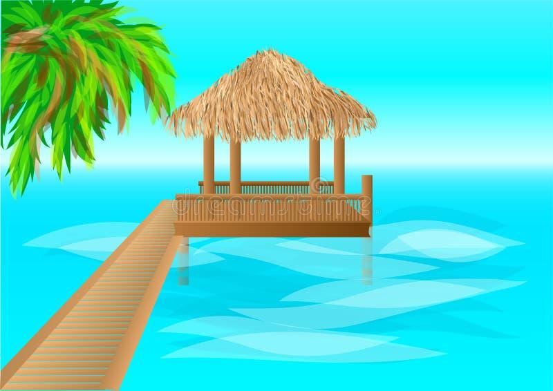 maldives vector illustratie