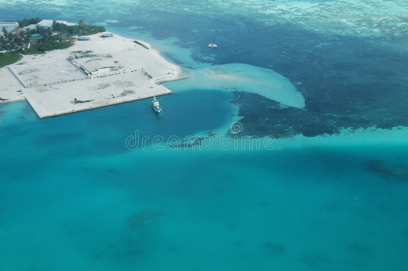 Maldives. Beautiful sea and beach in the Maldives royalty free stock images