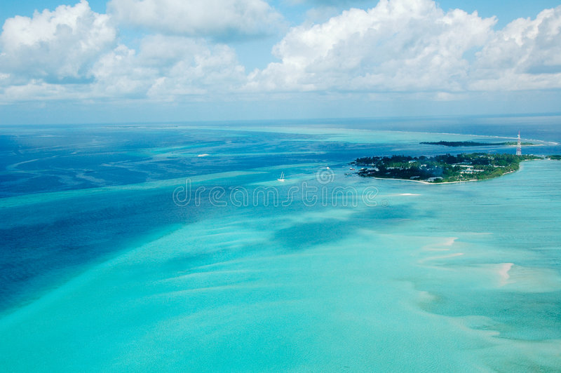 Maldives. Beautiful sea and beach in the Maldives royalty free stock photo