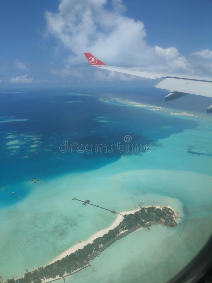 Maldives from above stock photos