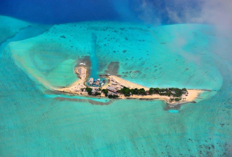 Maldives atol zdjęcie stock