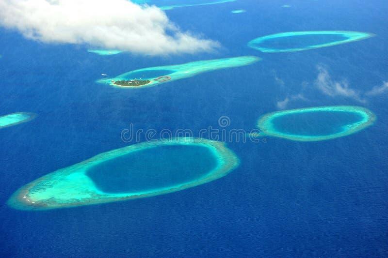 Maldives-Atoll lizenzfreies stockbild