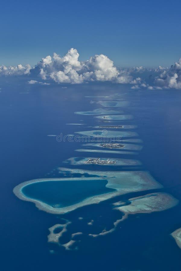 Maldives-Atolle lizenzfreie stockfotos