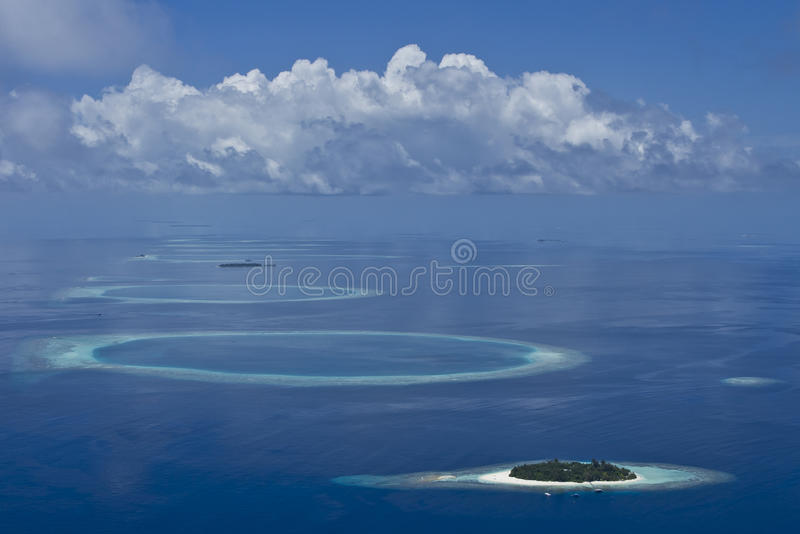 Maldives Atolls Stock Photography