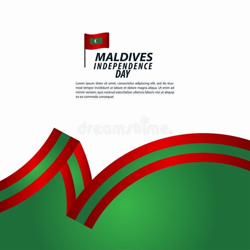 Maldives dnia niepodległości świętowania szablonu projekta Wektorowa ilustracja royalty ilustracja