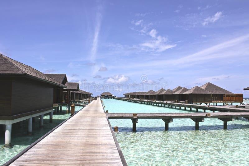 Maldives. In dream blue sea blue sky, the heaven islands, the seascape room looks up to the sea blue sky, golden sand beach, deep blue sea, peaceful stock photography