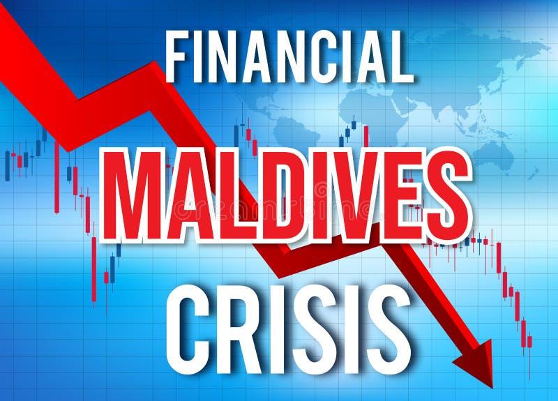 Maldives Financial Crisis Economic Collapse Market Crash Global Meltdown. Illustration vector illustration