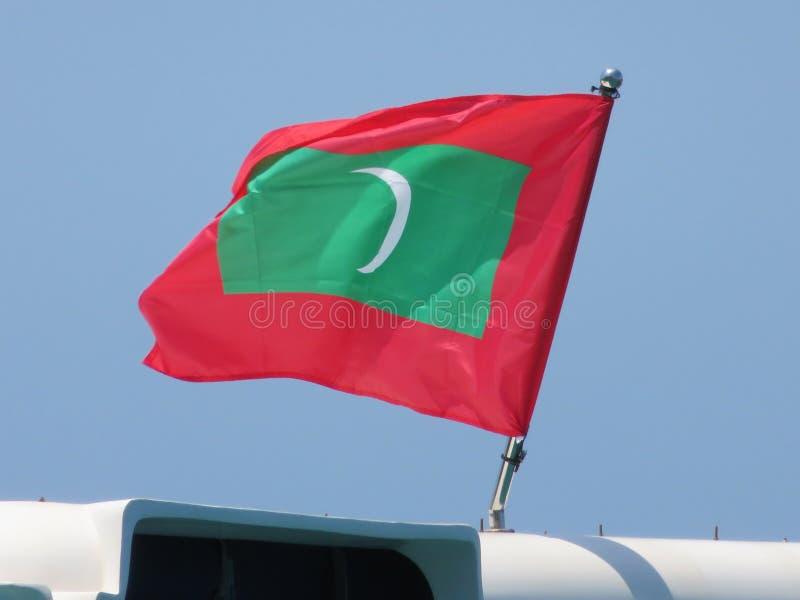 Maldives flaga zdjęcie stock