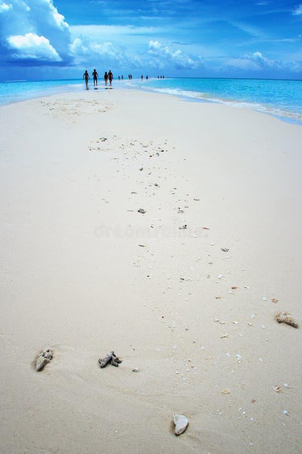 Maldives: Gente en paraíso foto de archivo