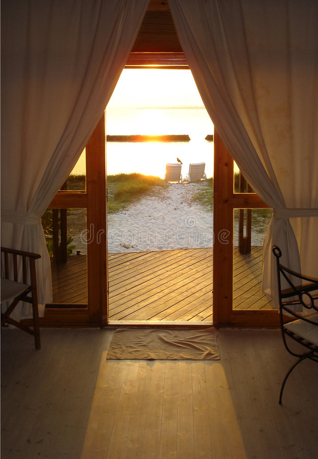 Maldives-Hotelzimmer-Ansicht lizenzfreies stockbild