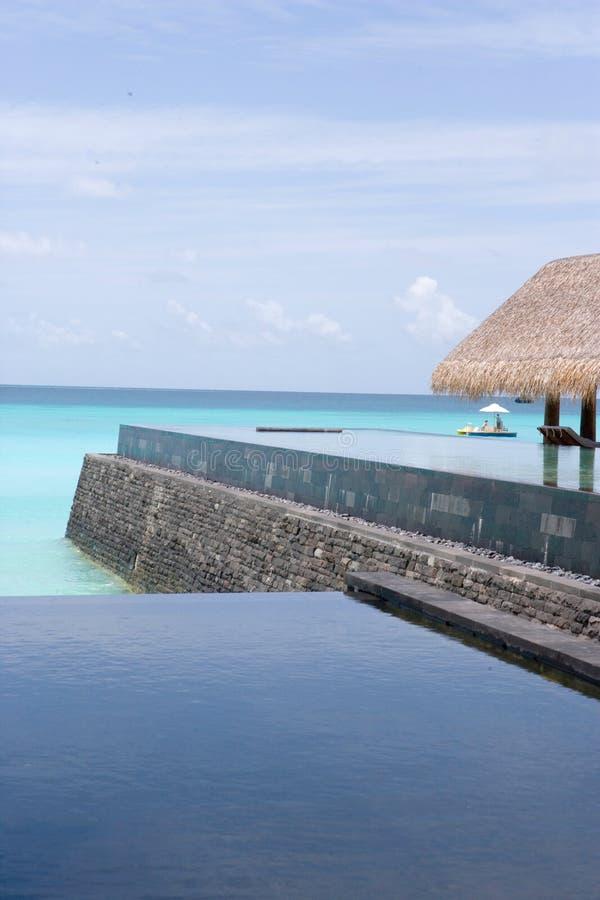 Download Maldives Infinity Pool stock image. Image of black, beach - 1018143