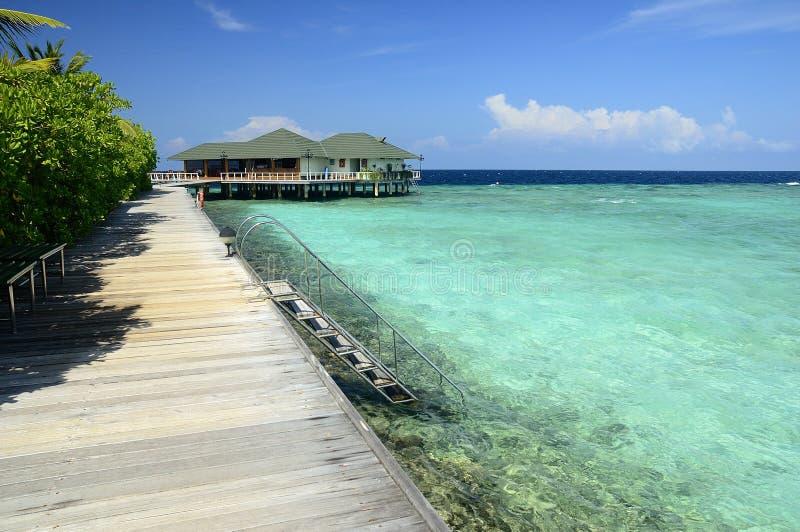 Maldives-Insel stockfotografie
