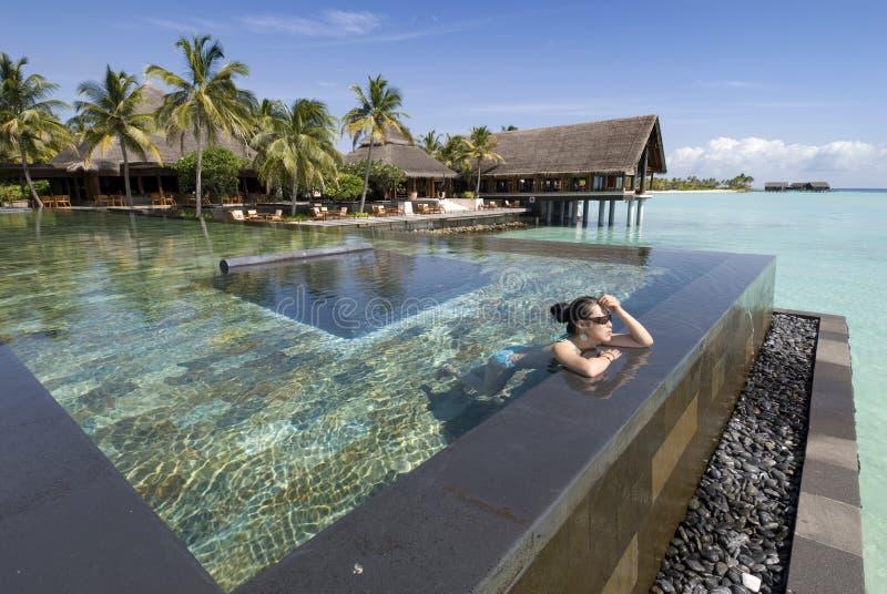 Maldives-Meerblick stockfotos