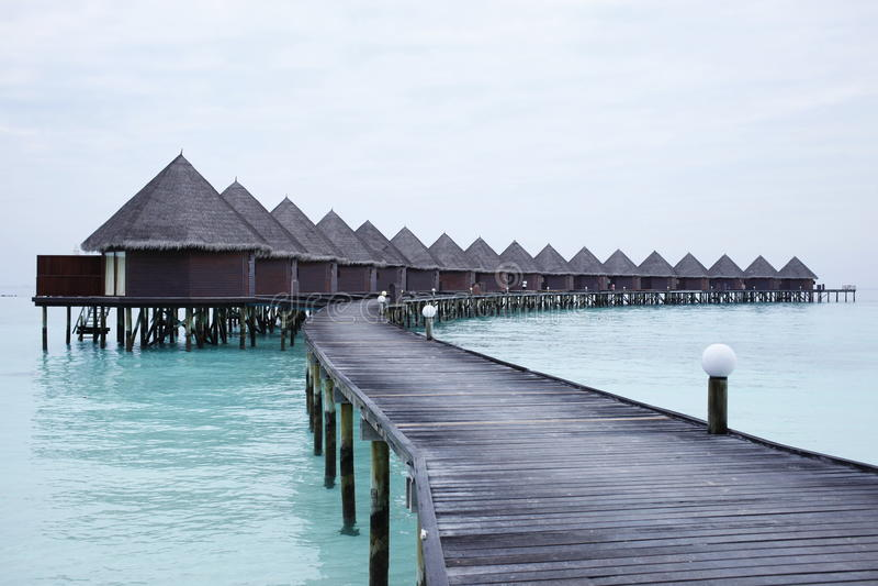 Maldives resort island royalty free stock image