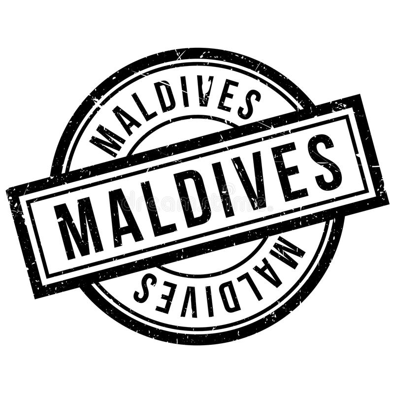 Maldives rubber stamp. Grunge design with dust scratches. Effects can be easily removed for a clean, crisp look. Color is easily changed vector illustration