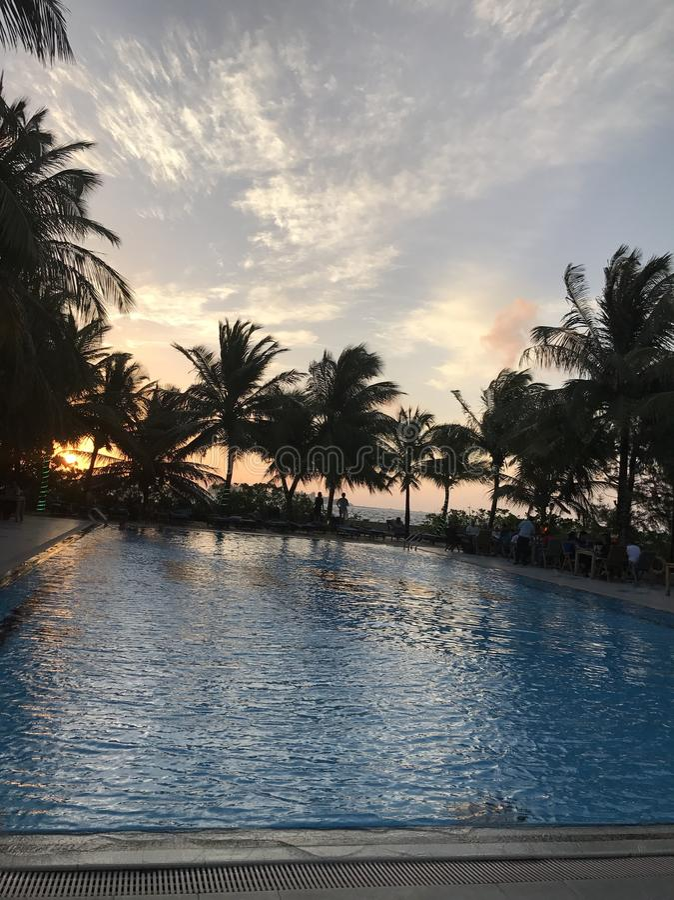 maldives solnedgång royaltyfria bilder