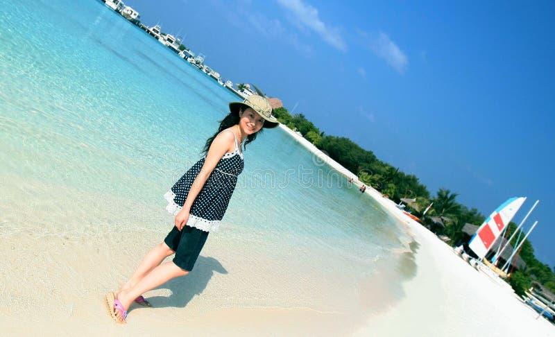 Maldives-Strand lizenzfreies stockbild