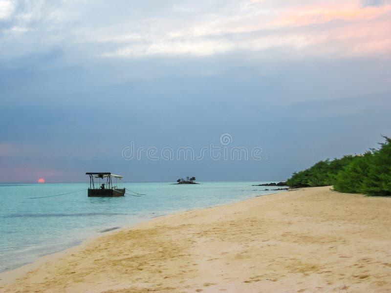 Maldives sunset background stock photos