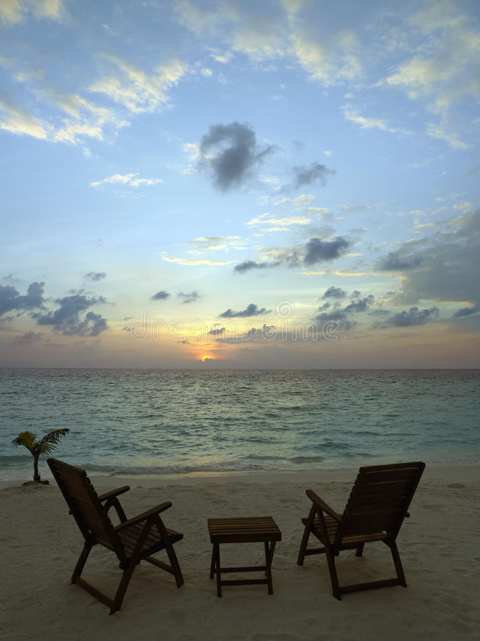 Maldives - Tropical resort royalty free stock images