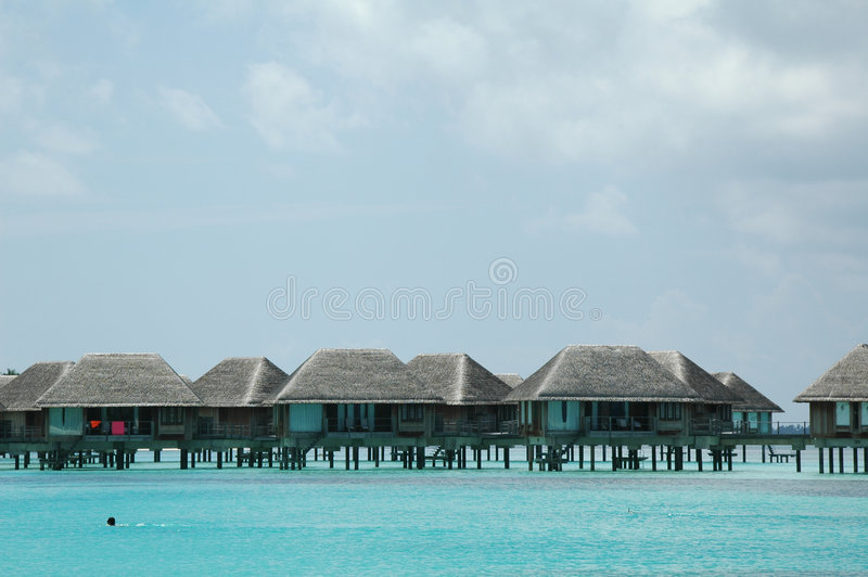 Maldives Villa. Villa houses at the Maldives stock photo