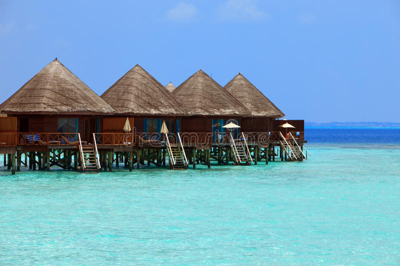 Download Maldives. Villa On Piles On Water Royalty Free Stock Images - Image: 15624809