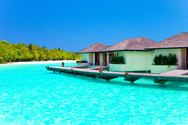 Download Maldives. Villa On Piles On Water Stock Image - Image: 18912757